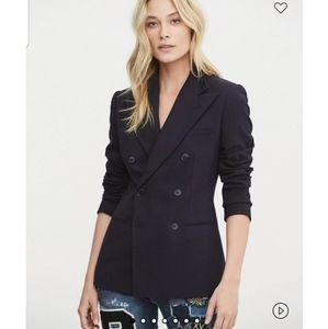 Lauren Ralph Lauren double breasted wood blazer
